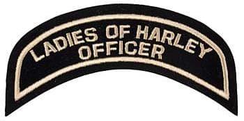 LADIES OF HARLEY OFFICER (ОФИЦЕР, ОТВЕТСТВЕННЫЙ ЗА РОБОТУ С ЖЕНСКОЙ ЧАСТЬЮ КЛУБА)