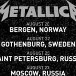Metallica проведет концерты в Москве и Санкт-Петербурге