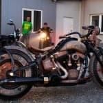 Первый мотоцикл с татуировками