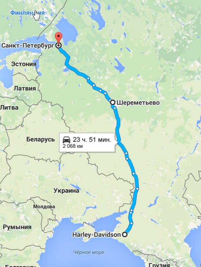 2016-05-13 14_27_48-откуда_ Harley-Davidson; куда_ Санкт-Петербург– Google Карты